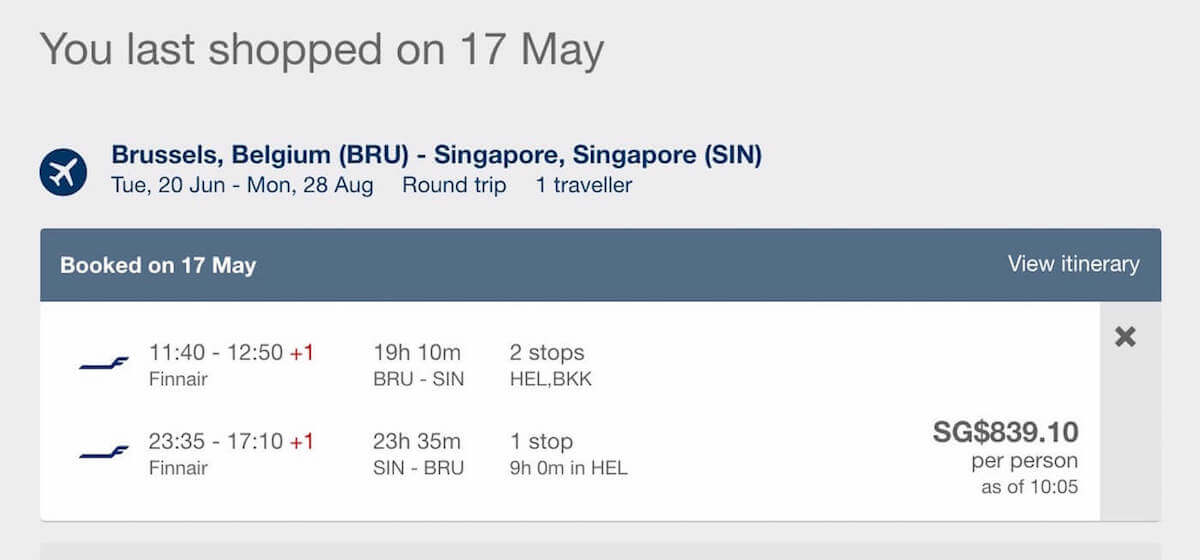Cheap Flights from Brussels to Singapore - Confirmed Flight for Expedia Singapore