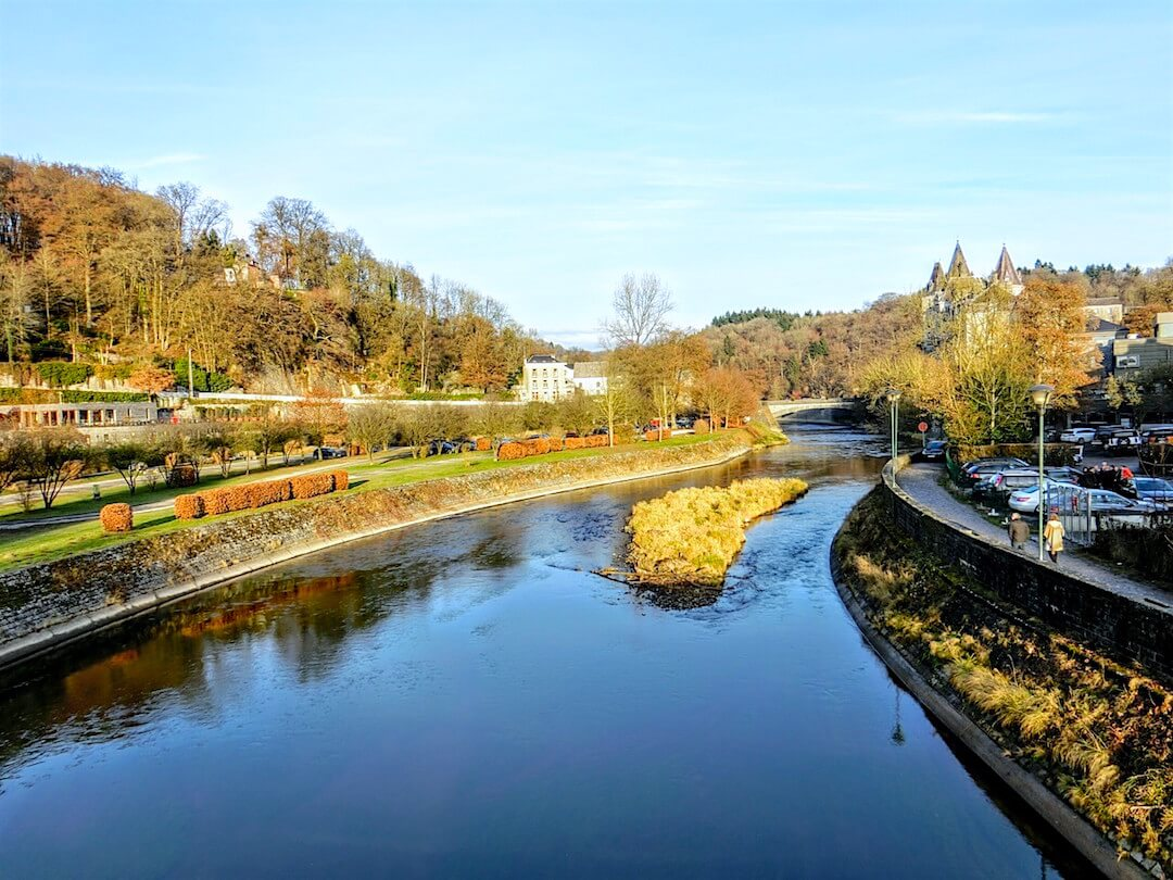 Durbuy Ardennes Ourthe River Scenery