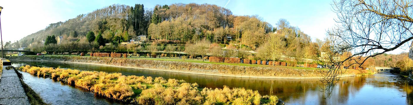 Durbuy Ourthe River in Belgium