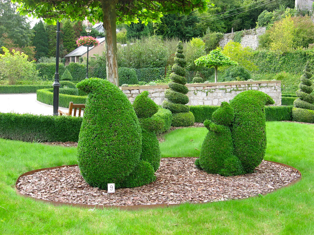 Topiary Park Durbuy Belgium is the largest in the world despite being the smallest city.