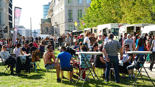 Fun things to do in Belgium: Brussels Food Truck Festival