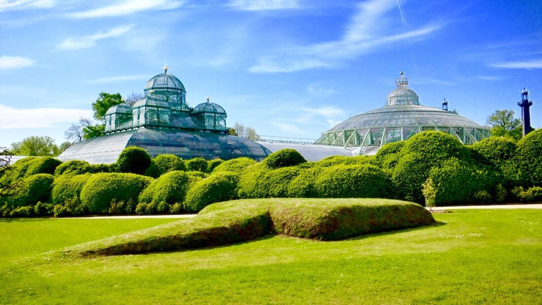 Left: Congo Greenhouse, Right: Winter Garden @ Royal Greenhouses of Laeken