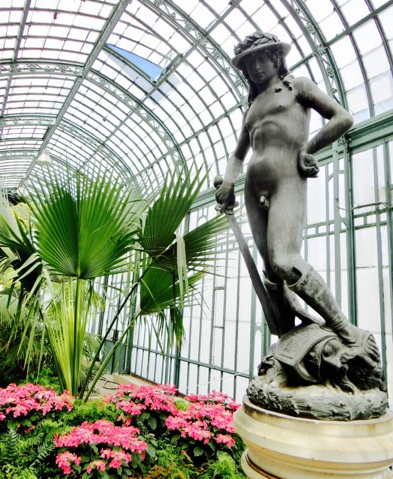 Donatello's David Replicate @ Embarcadère Greenhouse, Royal Greenhouses of Laeken