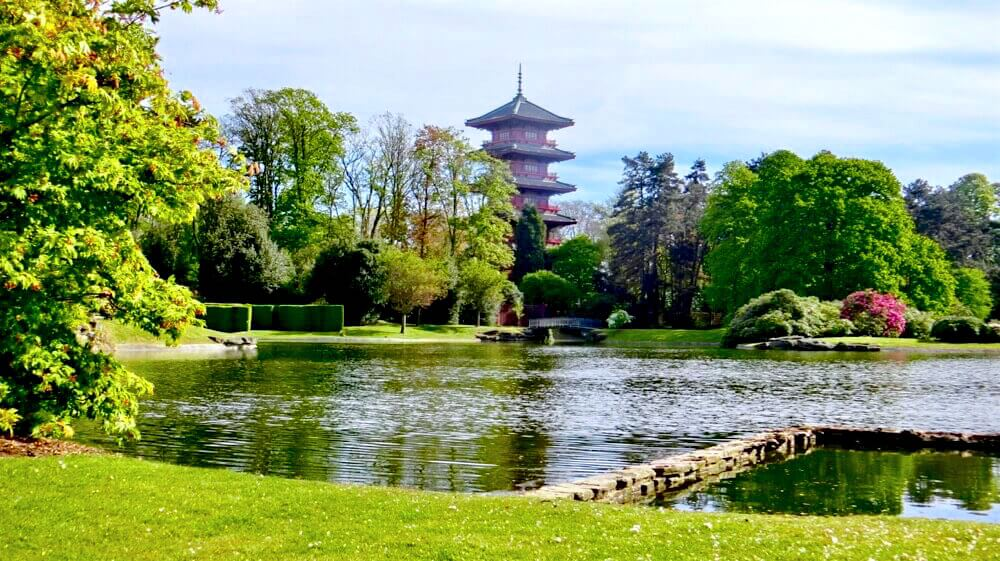 View from Royal Park: Japanese Tower @ Royal Castle of Laeken