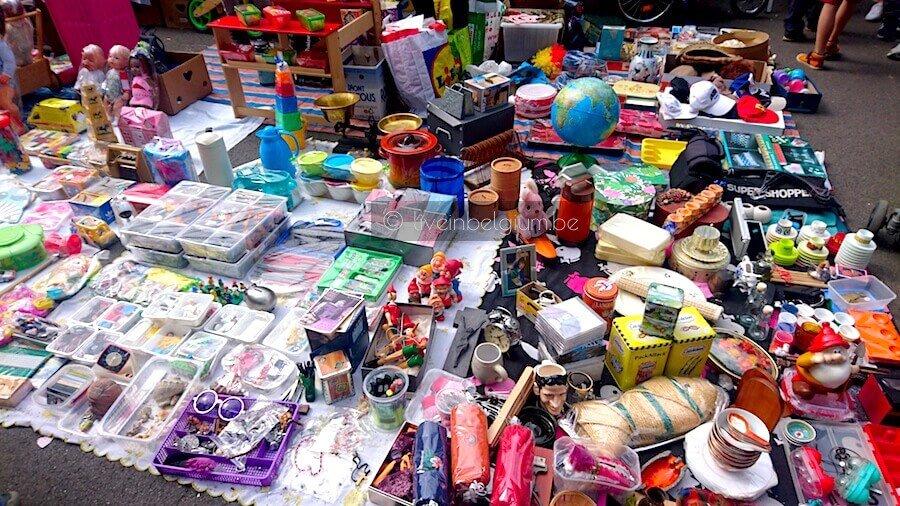 Rommelmarkt Dageraadplaats Antwerp Flea Market Floor Display