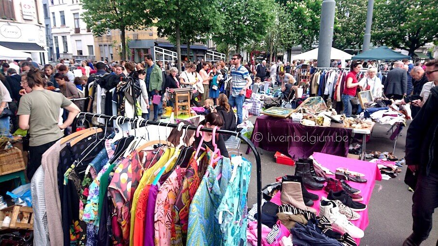 Rommelmarkt Dageraadplaats Antwerp Flea Market Zurenborg
