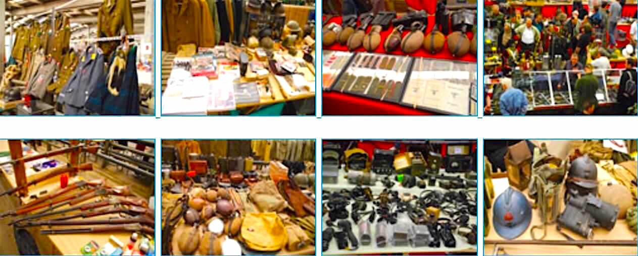 Ciney Militaria Fair in April and October every year